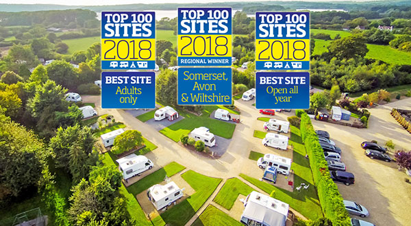 Practical Caravan Somerset Regional Winner, Best Adult Only, Best Open All Year Park 2018!