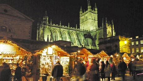 Visit Bath Christmas Market from Bath Chew Valley Caravan Park
