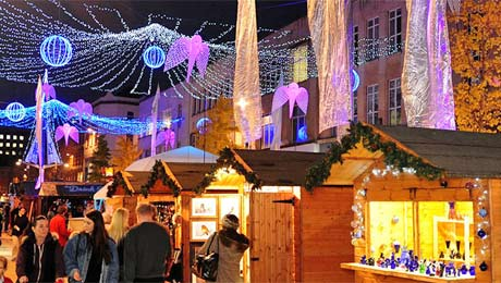 Visit Bristol Christmas Markets from Bath Chew Valley Caravan Park