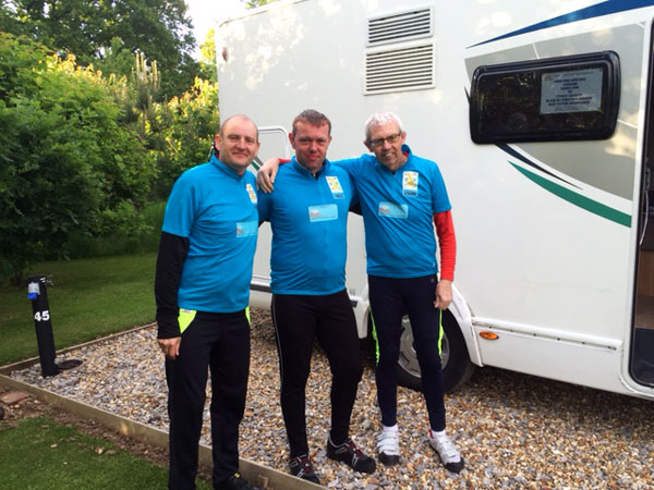 John, Phil and Neil Cycling Lands End to John O'Groats