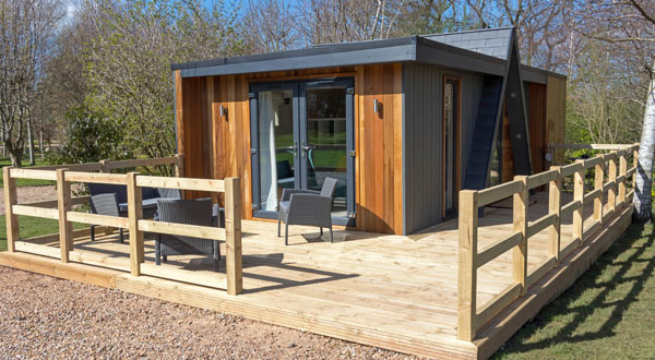 Adult only glamping lodge at Chew Valley, Somerset